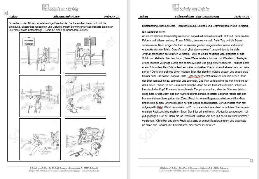 Bildergeschichten 3 Klasse