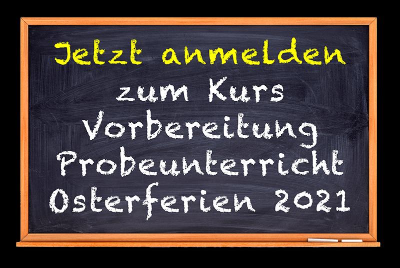 Schule mit Erfolg Probeunterricht Osterferien 2021