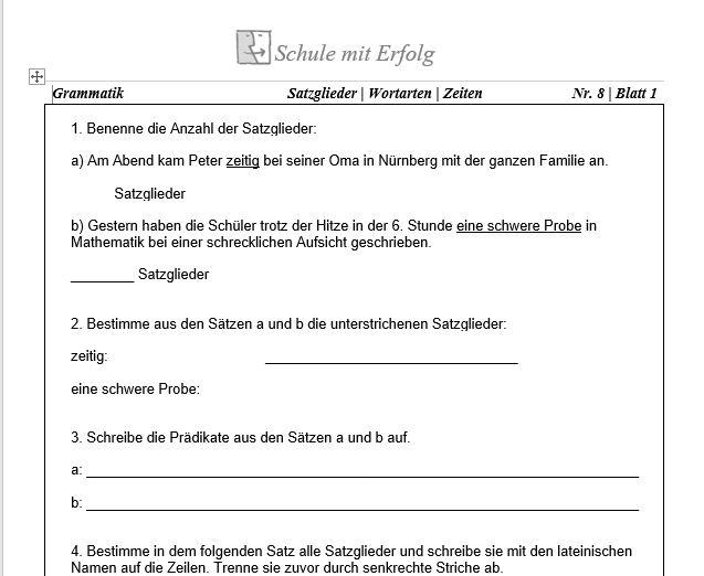 5 Realschule Deutsch  Grammatik
